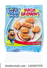 Winneconne - 1 June 2018: A bag of Mr. Potato Head hash browns with head shapes on an isolated background.