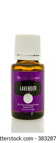 Winneconne, WI - 10 Feb 2016:  Bottle of Young Living lavender essential oil.