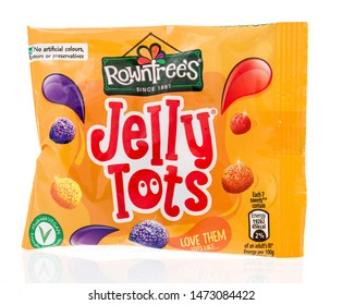 Winneconne, WI - 10 July 2019 : A package of Towntrees jelly tots candy on an isolated background