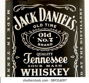 Winneconne, WI - 10 March 2016: A close up shot of Jack Daniel's whiskey