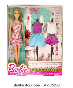 Winneconne, WI - 10 Nov 2015:  Package that contains Barbie, the most famous doll of all time