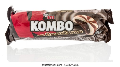 Winneconne, WI - 10 October 2019: A package of Eti kombo cookies on an isolated background