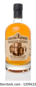 Winneconne, WI - 14 March 2019: A bottle of Collier and McKeel Tennessee whiskey on an isolated background