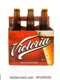 Winneconne, WI - 15 March 2016:  A six pack of Victoria beer from Mexico
