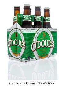 Winneconne, WI - 16 March 2016: Six pack of O'doul's non-alcoholic malt beverage