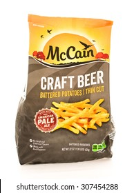 Winneconne, WI - 18 August 2015:  Bag of McCain craft beer battered french fries.