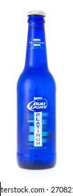 Winneconne, WI - 19 April 2015:  Bottle of Bud Light Platinum beer.