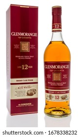 Winneconne,  WI - 20 March 2020:  A bottle of Glenmorangie Scotch whisky on an isolated background.