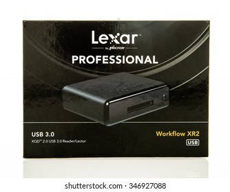 Winneconne, WI - 3 Dec 2015:  Lexar Work flow XR2 XQD card reader professional series.