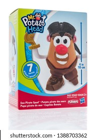 Winneconne, WI -  3 May 2019 : A package of Mr. potato head toy on an isolated background