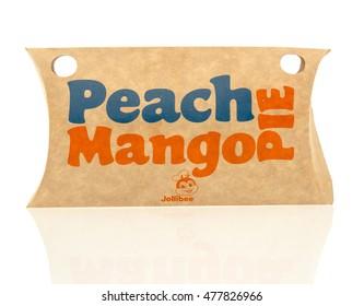 Winneconne, WI - 30 August 2016:  Jollibee Peacnh Mango pie on an isolated background.