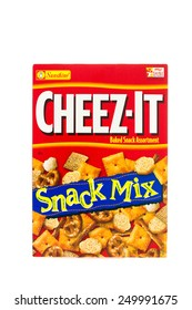 Winneconne, WI - 4 February 2015: Cheez-it Snack Mix created in 1921 and is now owned by Kellogg Company.