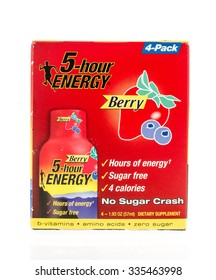 Winneconne, WI -4 Nov 2015:  Box of 5 hour energy in berry flavor.