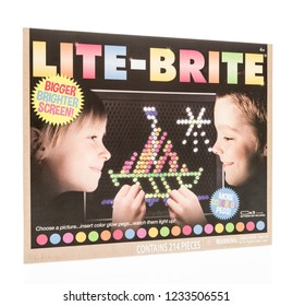 Winneconne, WI - 4 November 2018: A package of a Lite-Brite with a bigger and brighter screen on an isolated background.