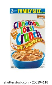 Winneconne, WI - 5  February 2015: Box of Cinnamon Toast Crunch cereal a product of General Mills.