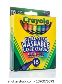 Winneconne, WI -  5 May 2019 : A package of Crayola washable large crayons on an isolated background