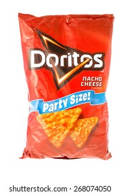 Winneconne, WI, 9 April 2015:  Bag of Doritos chips which is owned by Frito-Lay.
