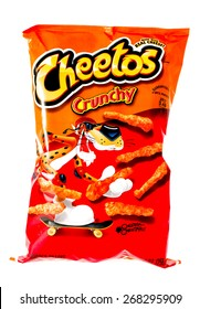 Winneconne, WI, 9 April 2015:  Bag of Cheetos  which is owned by Frito-Lay.