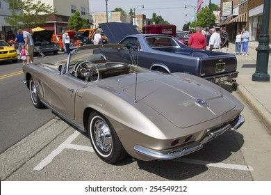 WINNECONNE, WI - JUNE 7:  1962 Fawn Beige Chevy Corvette at Winneconne Annual Car Show Public Event June 7, 2014 in Winneconne, Wisconsin.