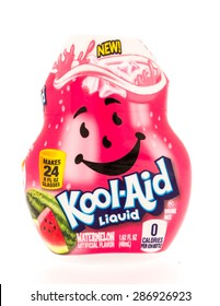 Winneconni, WI - 13 June 2015: Bottle of Kool-Aid Liquid in watermelon flavor.