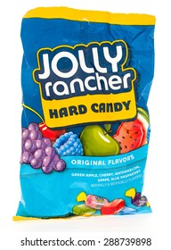 Winneconni, WI - 19 June 2015:  Bag of Jolly rancher hard candy in assorted flavors