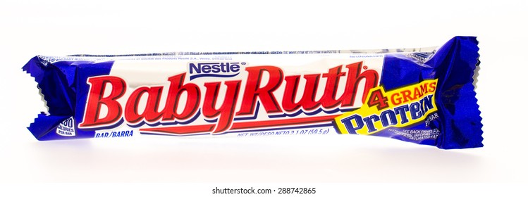 Winneconni, WI - 19 June 2015:  Baby Ruth candy bar