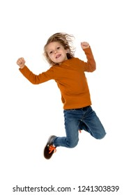 Winner child isolated on a white background