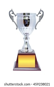 Winner cup trophy isolated on white background. This has clipping path.