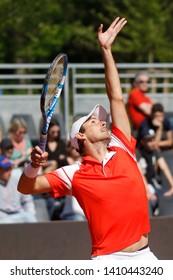 Winner Edouard Roger-Vasselin (FRA) during the Open Parc Auvergne-Rhone-Alpes Lyon 2019, ATP 250 Tennis tournament on May 22, 2019 at Parc de la Tete d'Or in Lyon, France
