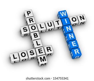 winner and loser crossword puzzle