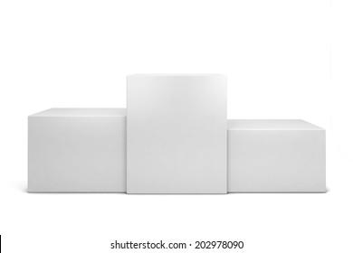 Winner podium. 3d illustration isolated on white background