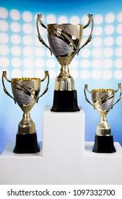 Winner podium sports symbols