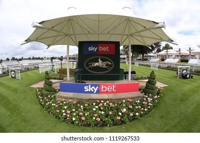 The Winners Rostrum and Podium at York Racecourse : The Knavesmire, York Racecourse, Nth Yorkshire, UK : 16 June 2018 : Pic Mick Atkins