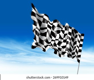 winning flag illustration