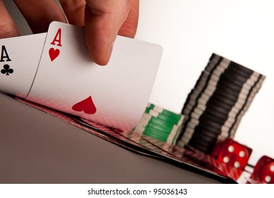 winning hand a pair of aces