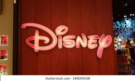 WINNIPEG, CANADA - March 2019:Disney Store sign outside retail outlet in Polopark Mall.