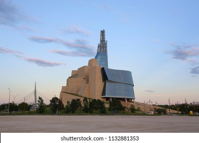 Winnipeg, Manitoba/Canada - July 10, 2018: Canadian Museum for Human Rights