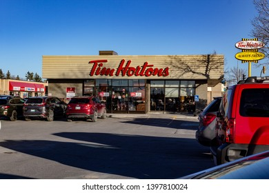 Winnipeg, Mb / Canada - May 9 2019. St. Vital Tim Horton's on a usually busy Thursday.