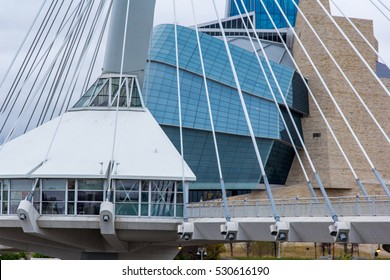 Winnipeg's Esplanade Riel and the Canadian Museum of Human Rights