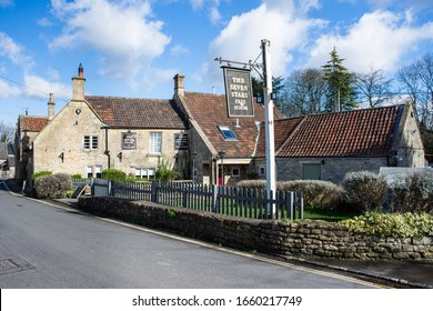 Winsley Wiltshire UK February 27 2020 The seven stars pub freehouse in the village of Winsley in Wiltshire on a sunny late winter day