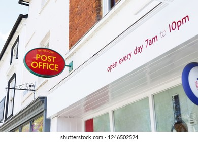 Winslow, UK - April 27, 2015. Exterior of a local Post Office branch in Winslow, Buckinghamshire. There are currently over 11,000 branches in the UK.