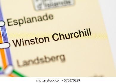 Winston Churchill Station. Strasbourg Metro map.