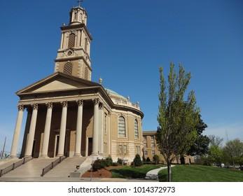 WINSTON SALEM, NC / USA - APRIL 2015: Fist Baptist Church in Winston-Salem