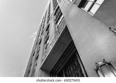 WINSTON-SALEM, NC, USA - JUNE 3: Reynolds Building on June 3, 2012 in downtown Winston-Salem, North Carolina.