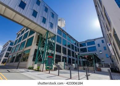 WINSTON-SALEM, NC, USA - MAY 5: 525 at Vine Building, part of the Innovation Quarter in Winston-Salem, North Carolina. on May 5, 2016 in WINSTON-SALEM, NC, USA.