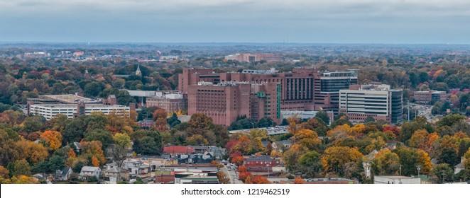 WINSTON-SALEM, NC, USA - NOVEMBER 2, 2018:  Wake Forest Baptis Medical Cednter on November 2, 2018 in Winston-Salem, North Carolina.