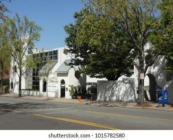 WINSTON-SALEM, NC/USA - APRIL 2015: White Church Downtown