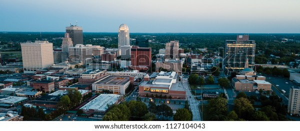 City Of Winston Salem >> Winstonsalem North Carolina Downtown City Skyline Stock