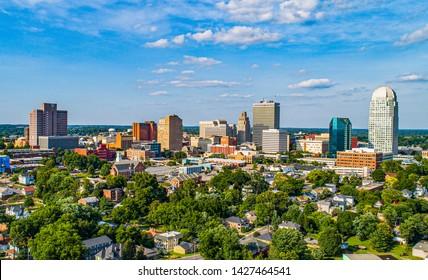 Winston-Salem, North Carolina, USA Downtown Skyline