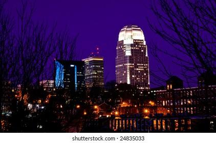 Winston-Salem Skyline at night